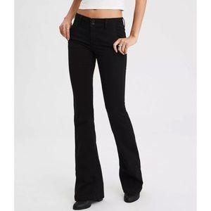 American Eagle Black Stretch Artist Flare Jeans